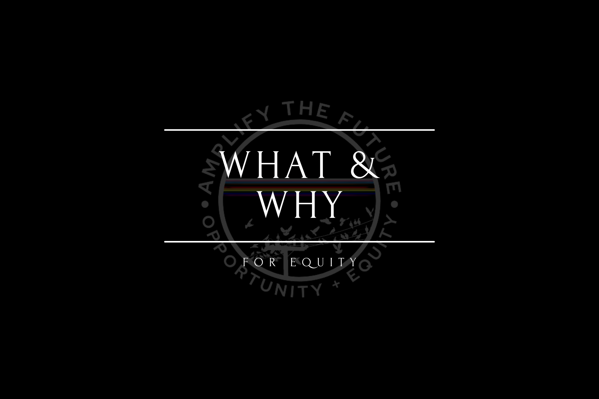 Text: What & Why: For Equity